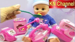 Bé Na cho Búp bê baby Alive ăn | Đồ gia dụng KN Channel Houseware | Đồ chơi trẻ em