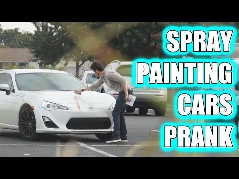 Spray Painting Cars Prank