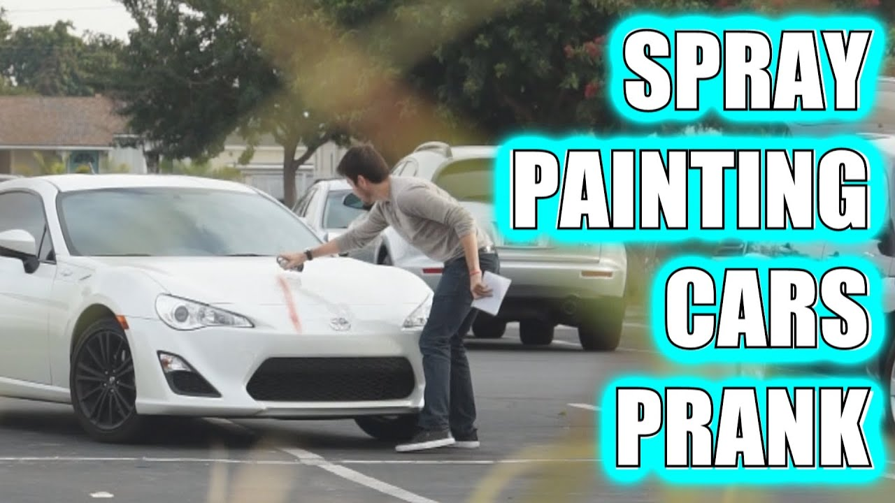 spray painting cars prank youtube. Black Bedroom Furniture Sets. Home Design Ideas
