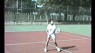 Stéphanie FORETZ à 12 et 14 ans. Entraînement Tennis Practice wmv