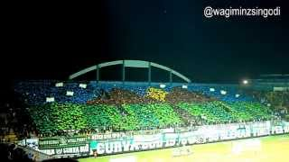 BCS X PSS 1976 COREO FROM THE MATCH PSS VS PERSEWON 2013 (HD)