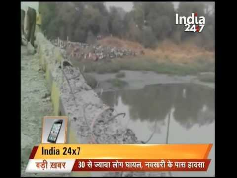 Bus falls into river in Gujarat's Navsari; 15 students reported dead