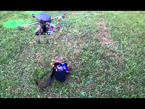 Quadcopter for aerial photography HAL frame from Hobby King