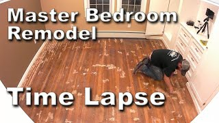 Bedroom Remodel Time-Lapse 3 Months Work In 22 Minutes