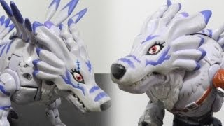 デジモンDigimon Warp Digivolving Figure-Garurumonガルルモン to WereGarurumonワーガルルモン