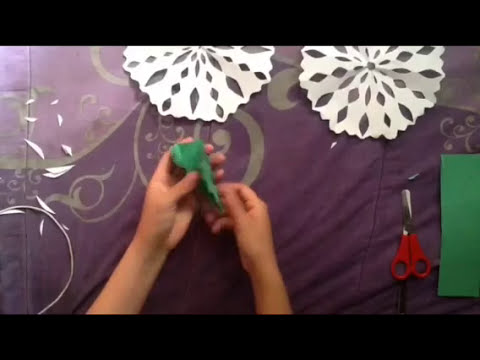 Como hacer un copo de nieve de papel (simple)   simple snow