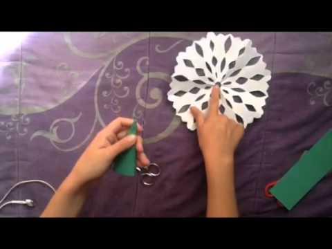 Como hacer un copo de nieve de papel (simple) | simple snow