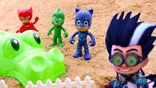 PJ Masks en español. Héroes en pijamas en la playa.