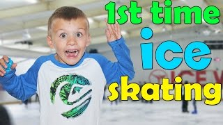 First Time Ice Skating!!