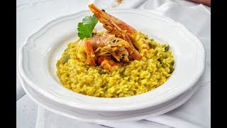 Receta italiana: Como hacer Risotto con frutos de mar/mariscos/crustaceos