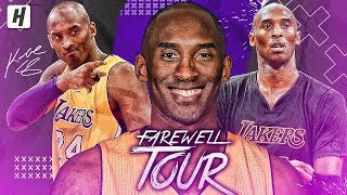 Kobe Bryant FAREWELL TOUR - BEST Highlights & Moments from his LAST NBA Season! #MambaOut