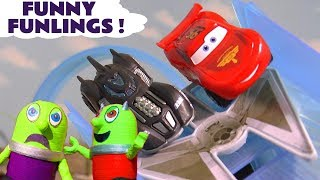 Funny Funlings race with Cars Lightning McQueen and Avengers Superheroes TT4U