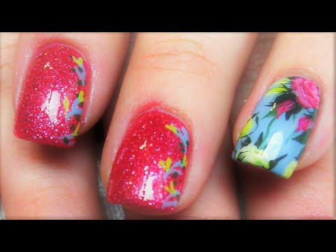 2 Nail Art Tutorials | Easy Nails for Beginners | Rose Bouquet Nails