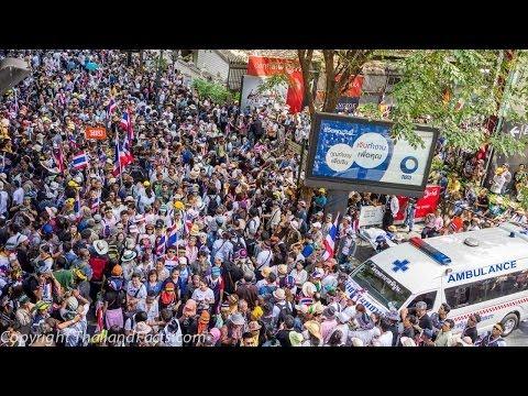 Bangkok Shutdown 13 January 2014 MBK Ratchaprasong Chidlom