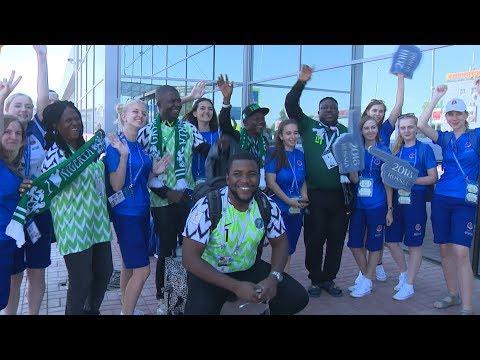 В аэропорту Волгограда приземлились рейсы с болельщиками из Нигерии и Исландии