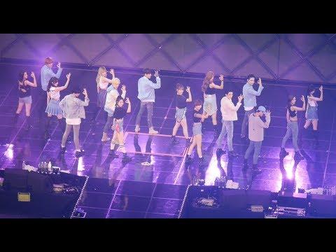 트와이스 (TWICE) + GOT7 (콜라보) 딱 좋아 Just Right [풀버전] (full Ver.) 4K 직캠 Fancam (JYP NATION) By Mera