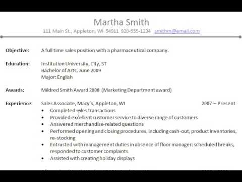 great resume examples 2010. Common Resume Errors
