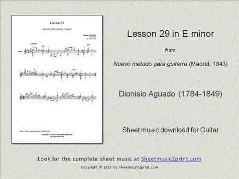 Dionisio Aguado - Lesson 29 In E Minor