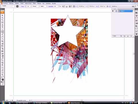 Tutorial Mascara Recorte illustrator - YouTube