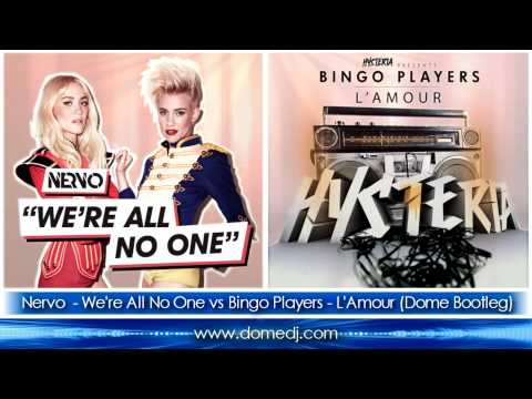 Nervo ft. Afrojack & Steve Aoki – We're All No One vs Bingo Players – L'Amour (Dome Bootleg Mix)