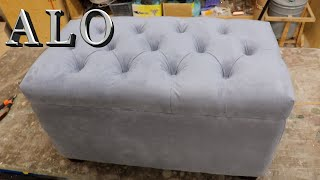 DIY- HOW TO MAKE YOUR OWN TUFTED STORAGE BENCH TUTORIAL- ALO Upholstery
