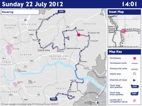 ROADS: Sunday 22 July - Olympic Torch Relay