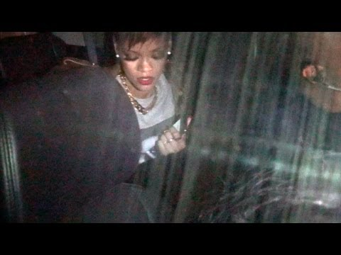 Rihanna Parties Past 2 AM In Hollywood, Asked About Chris Brown - Frank Ocean Brawl
