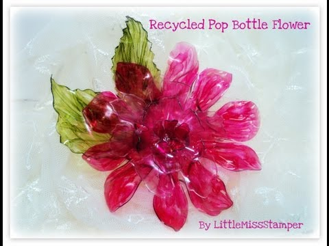 Craft Ideas  Recycled Materials on Creates Beautiful Eco Flowers From Recycled Materials   Worldnews Com