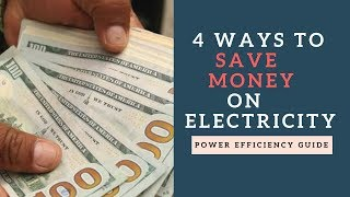 ways to save money on electricity