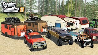 FS19- LUXURY CAMPING! $90,000 OFF-ROAD CAMPER & BUILDING A RV RESORT (MULTIPLAYER)