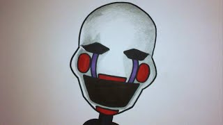 How To Draw Marionette From Five Nights At Freddy