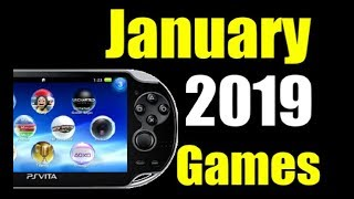 Upcoming New PS Vita Releases - January 2019