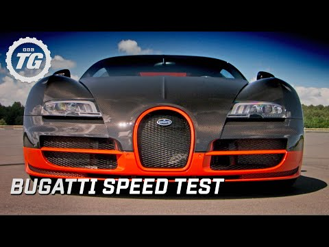 Bugatti Super Sport speed test - Top Gear - BBC