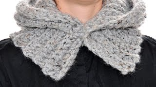 How to crochet a Hoodie. Hooded Cowl.