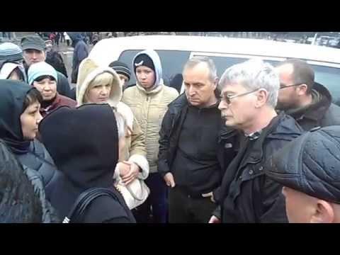Жители Славянска и представители ОБСЕ. Мы не хотим в ЕС! 13.04.2014