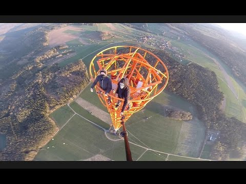 Climbing a 363m Radio Tower in Donebach-Germany