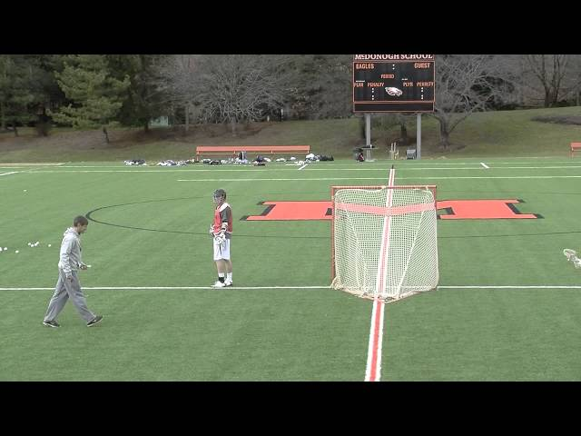 Boys Lacrosse Shooting Drill Attack 2 Man Game