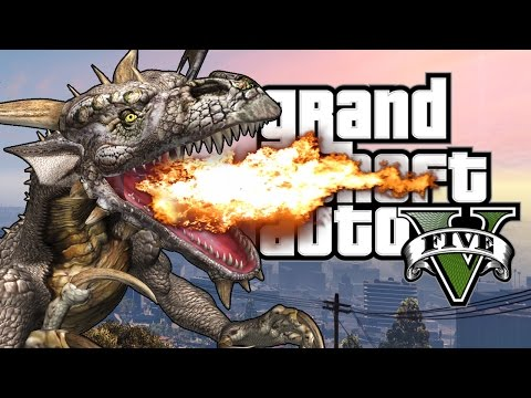 GTA 5 Mods : Dragons V - ДРАКОНЫ В ГТА! (ЭПИК МОД)
