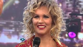 Showmatch 2012 - Liz Solari abrió la noche con 39 puntos