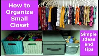 Closet Organization | Women Clothes Organization | Home Organization Tips and Tricks