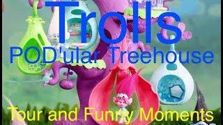 DreamWorks Trolls POD'ular Troll Tree | Trolls Tree Tour | Trolls Funny Moments