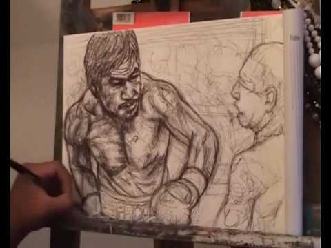 Manny Pacquiao painting by Albie Espinola Video