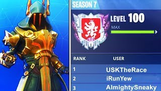 "WORLDS FIRST LEVEL ""100"" IN FORTNITE BATTLE ROYALE SEASON 7! WORLDS FIRST LIVE (FORTNITE)"
