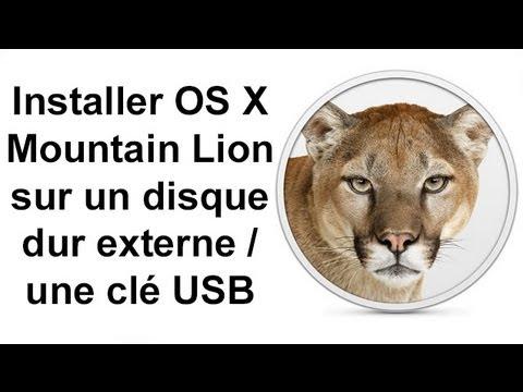 installer os x 10 8 mountain lion sur un disque dur externe une cl usb youtube. Black Bedroom Furniture Sets. Home Design Ideas
