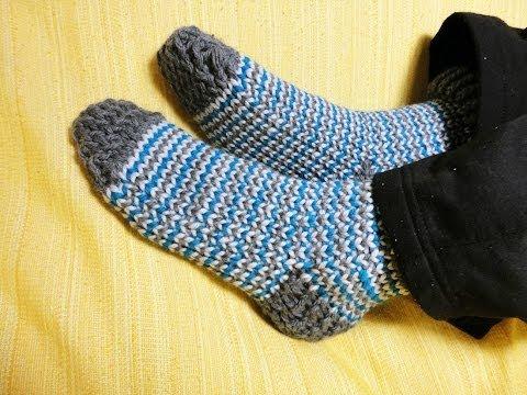 C mo tejer calcetines con telar circular - Como hacer calcetines de punto ...