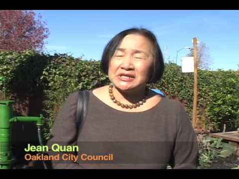 Jean Quan at East Oakland Boxing Association Green Jobs Grad Ceremony