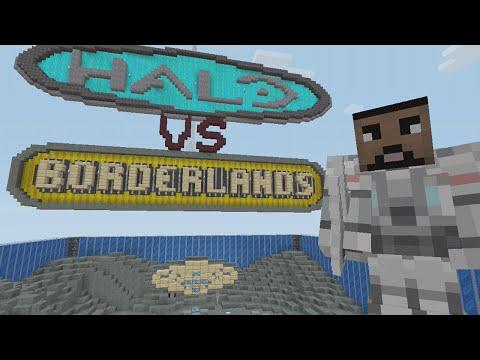 Minecraft (Xbox 360) - Halo vs Borderlands - Hunger Games