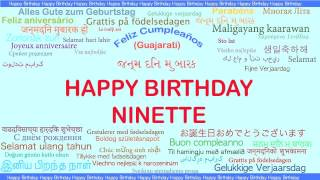 Ninette   Languages Idiomas - Happy Birthday