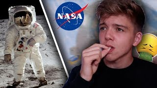 Trying SPACE FOOD eaten by NASA astronauts | First Time Tasting Astronaut Ice Cream | Simply Luke