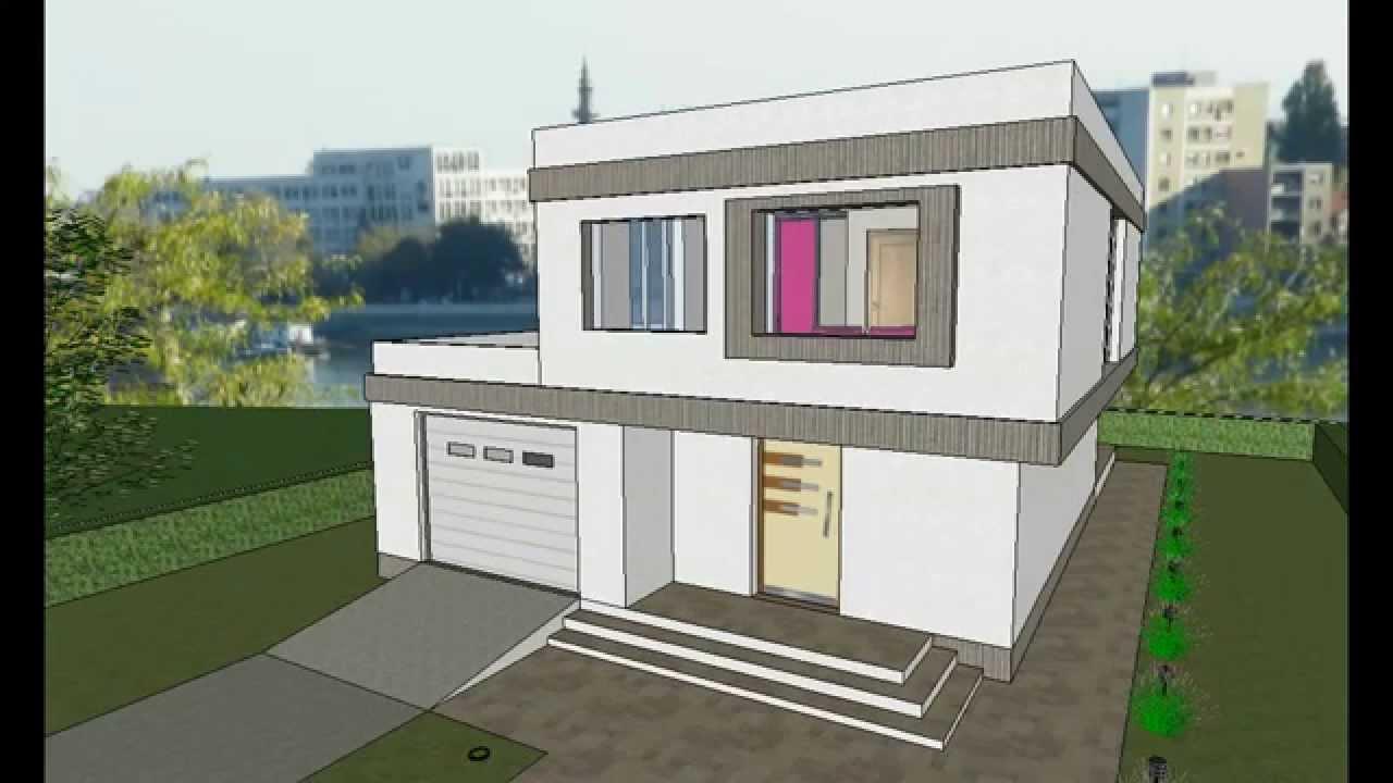 MODEL E-7 by AQ DOO, Spratna porodična kuća modernih linija ...